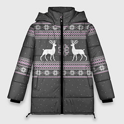 Куртка зимняя женская Узор с оленями - фото 1
