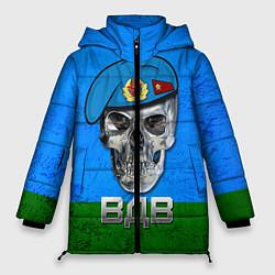 Женская зимняя 3D-куртка с капюшоном с принтом Череп: ВДВ, цвет: 3D-черный, артикул: 10077769406071 — фото 1