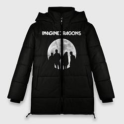 Женская зимняя 3D-куртка с капюшоном с принтом Imagine Dragons: Moon, цвет: 3D-черный, артикул: 10078925606071 — фото 1