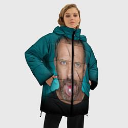 Женская зимняя 3D-куртка с капюшоном с принтом Хаус с таблеткой, цвет: 3D-черный, артикул: 10079018006071 — фото 2