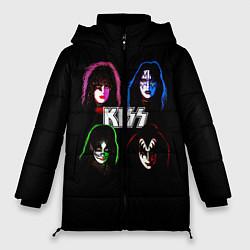 Куртка зимняя женская KISS: Acid Colours цвета 3D-черный — фото 1