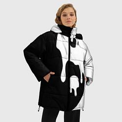 Куртка зимняя женская Инь Янь цвета 3D-черный — фото 2
