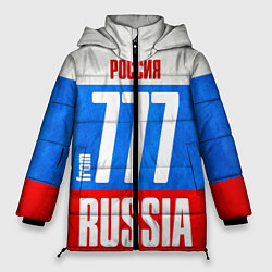 Женская зимняя 3D-куртка с капюшоном с принтом Russia: from 777, цвет: 3D-черный, артикул: 10097333606071 — фото 1