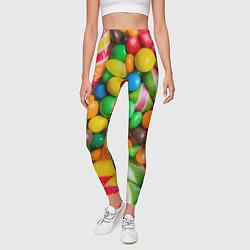 Леггинсы женские Сладкие конфетки цвета 3D — фото 2