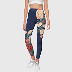 Леггинсы женские Fashion flowers цвета 3D — фото 2