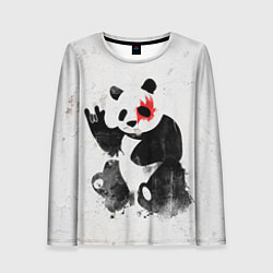 Лонгслив женский Рок-панда цвета 3D — фото 1
