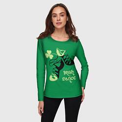 Лонгслив женский Ireland, Irish dance цвета 3D-принт — фото 2