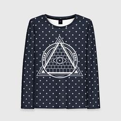 Лонгслив женский Illuminati цвета 3D — фото 1