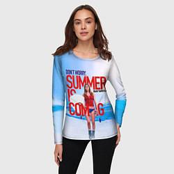 Лонгслив женский Summer is coming цвета 3D — фото 2