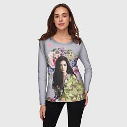 Лонгслив женский Lorde Floral цвета 3D — фото 2