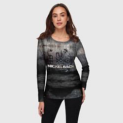 Лонгслив женский Nickelback Repository цвета 3D — фото 2