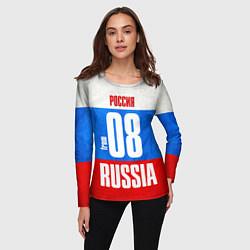 Лонгслив женский Russia: from 08 цвета 3D — фото 2