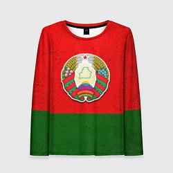 Лонгслив женский Герб Беларуси цвета 3D — фото 1