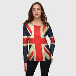 Лонгслив женский Великобритания цвета 3D — фото 2