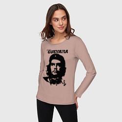 Лонгслив хлопковый женский Che Guevara цвета пыльно-розовый — фото 2