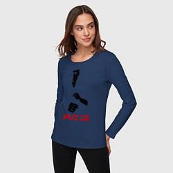 Лонгслив хлопковый женский Bruce Lee цвета тёмно-синий — фото 2