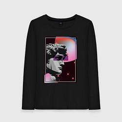 Лонгслив хлопковый женский Vapor David цвета черный — фото 1
