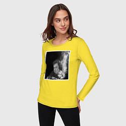 Лонгслив хлопковый женский MASK цвета желтый — фото 2