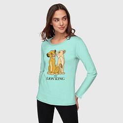 Лонгслив хлопковый женский Simba & Nala цвета мятный — фото 2