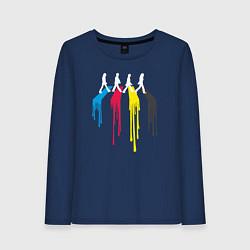 Лонгслив хлопковый женский Abbey Road Colors цвета тёмно-синий — фото 1