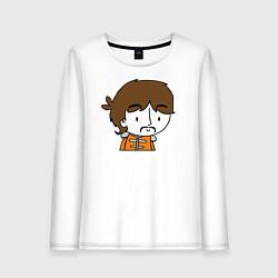 Лонгслив хлопковый женский George Harrison Boy цвета белый — фото 1