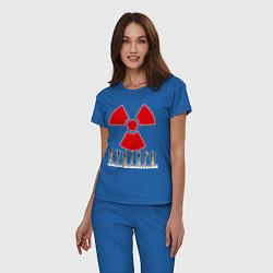 Пижама хлопковая женская STALKER: Shadow of Chernobyl цвета синий — фото 2