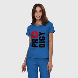 Пижама хлопковая женская Prodigy Star цвета синий — фото 2