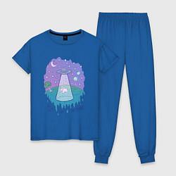 Пижама хлопковая женская Alien цвета синий — фото 1