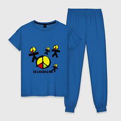 Пижама хлопковая женская Olodum цвета синий — фото 1