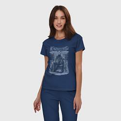 Пижама хлопковая женская Кукрыниксы: Артист цвета тёмно-синий — фото 2