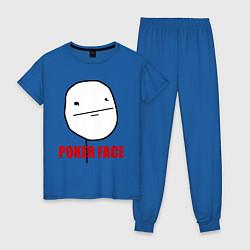 Пижама хлопковая женская Poker Face цвета синий — фото 1