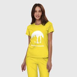 Пижама хлопковая женская Imagine Dragons цвета желтый — фото 2