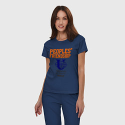 Пижама хлопковая женская PF UoR цвета тёмно-синий — фото 2