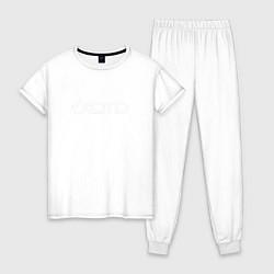 Пижама хлопковая женская KOTD цвета белый — фото 1