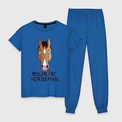 Пижама хлопковая женская BoJack Horseman цвета синий — фото 1