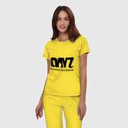 Пижама хлопковая женская DayZ: Slay Survive цвета желтый — фото 2