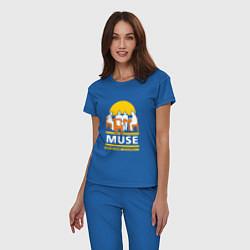 Пижама хлопковая женская Muse: Black Holes цвета синий — фото 2