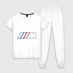 Пижама хлопковая женская BMW Motor Contur цвета белый — фото 1