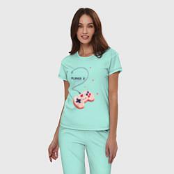 Пижама хлопковая женская Perfect Team: Player 1 цвета мятный — фото 2
