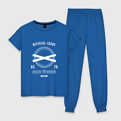 Пижама хлопковая женская The Weeknd: Official Issure цвета синий — фото 1