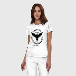 Пижама хлопковая женская The Eagle: Khabib UFC цвета белый — фото 2