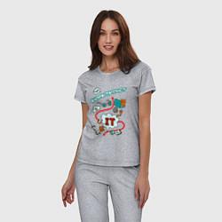 Пижама хлопковая женская Я ж программист цвета меланж — фото 2