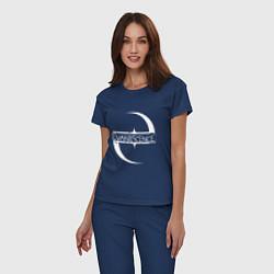 Пижама хлопковая женская Evanescence цвета тёмно-синий — фото 2