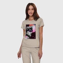 Пижама хлопковая женская Vapor David цвета миндальный — фото 2