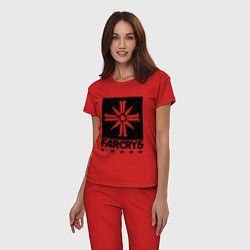Пижама хлопковая женская Eden's Gate: Far Cry 5 цвета красный — фото 2