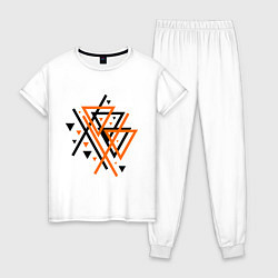 Пижама хлопковая женская Paul van Dyk: Chaos цвета белый — фото 1