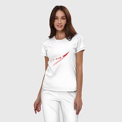 Пижама хлопковая женская NASA: Space Arrow цвета белый — фото 2