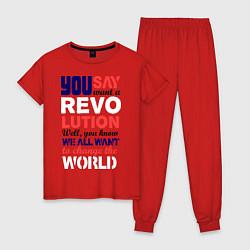 Женская пижама The Beatles Revolution