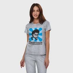 Пижама хлопковая женская Типичный программист цвета меланж — фото 2
