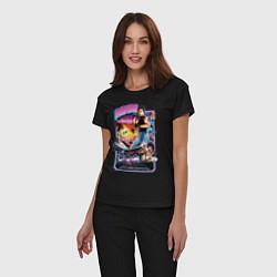 Пижама хлопковая женская Miami Connection цвета черный — фото 2